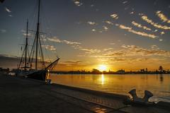 MyCanon Port Adelaide 221 (C J Graham) Tags: blue sunset cloud white silhouette golden cloudporn ketch mycanon falie canoncollective canoncollectiveportadelaidecanon7d