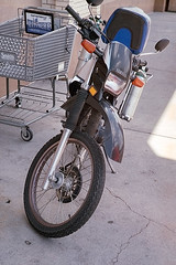 Cool-Motor-Scooter (oldnavychief 609) Tags: film fujisuperia200 albuquerquenm epsonv700 zeissikoncontaxiiia carlzeisssonnar5cmf15