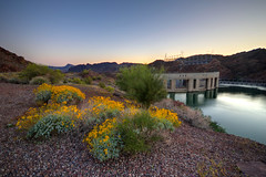 Sunset at Parker Dam (ap0013) Tags: sunset arizona sun set river colorado dam az coloradoriver parker ariz parkeraz parkerdam parkerdamsunset parkerdamarizona