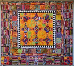 Pinata Quilt (opal c) Tags: flowers colors dayofthedead quilt mexican quilted pinata skeletons mexicancolors