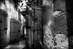 Opration portes ouvertes (Explore) (vedebe) Tags: street city bw monochrome architecture soleil noiretblanc nb prison porte rue cellule ville rayons urbain urbex portes abandonn netb gele