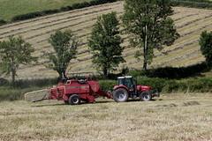 Massey Ferguson 6480 et MF 187 (Philippe-03) Tags: masseyferguson tracteur tractors foin fenaison agriculture campagne