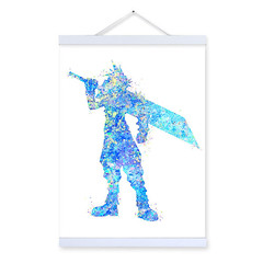 Freeshipping Original Watercolor Final Fantasy Kids Room Modern Abstract Wall Art Pop Games Movie Anime Poster Prints Canvas Painting Gifts by TheMildArt (Mild Art) Tags: art poster print painting canvas frame design original mild home decoration wall etsy shop for themildart