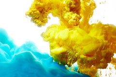 Abstract paint splash (lisame0511) Tags: paint splash liquid abstraction mix mixed bright drip shape coarsely color fall movement background water pigment closeup wallpaper cloud flow dynamic dye abstract fantasy texture design swirl transparent motion art pattern isolated blue yellow ukraine