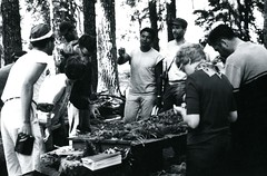 Studying forest specimens (PUC Special Collections) Tags: california coastal mendocino 1960s norcal 1970s biology tidepools puc albion estuaries mendocinocounty pacificunioncollege albionfieldstation albionbiologicalfieldstation pucbiologydepartment