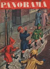 Panorama cover  18 augustus 1949 (janwillemsen) Tags: rain 1949 panoramacovermagazineillustration