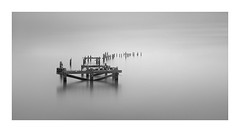 Haunting beauty (Nick green2012) Tags: blackandwhite long exposure 21 minimal derelict peir