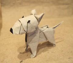 Origami Bull Terrier (Lonely-Shiba) Tags: original dog origami