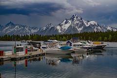 Storm on the Water (Plain Adventure) Tags: lake mountains boats grandtetonnationalpark