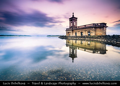 UK - England - Submerged Normanton Church on shore of Rutland Water reservoir at Sunset ( Lucie Debelkova / www.luciedebelkova.com) Tags: rutland england anglie uk unitedkingdom greatbritain gb british europe eu evropa britishisles west western island britain english coastal coastline coast european great horizontal ocean seacoast sea seaside travel nobody outdoors motion blur nature dusk rural scene idyllic tranquil horizon over water surf natural rock formation scenics beauty seascape sunset scenic vista view panorama beautiful exploration magiclight light landschaft landscape wwwluciedebelkovacom luciedebelkova