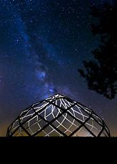 Zome 41 (PierrePelli) Tags: zome milyway star night tree space ufo sky spaceship