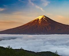 Morning of May Fuji (shinichiro*) Tags: 20160518ds32162 2016 crazyshin nikond4s afsnikkor2470mmf28ged may spring  fuji fujikawaguchiko yamanashi japan morning cloud