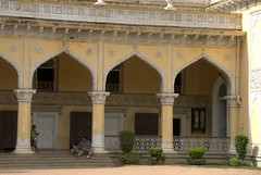 Arches of the back courtyard (VinayakH) Tags: india gardens royal palace hyderabad royalpalace nizam telangana chowmahallapalace