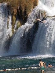 Krka Waterfalls (armaggedon_cristi) Tags: hrvatska croatia krkawaterfalls europe 2016 travel trip waterfalls people jumping swimming fun summer kroatien