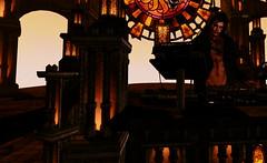 DJ Ryshya (LoneSolitarian) Tags: horizon dream second life secondlife sl virtual dark light shadow art firestorm gimp photography windlight photo sim 3d avatar people male man boy human masculine macho dj music thelookingglass lookingglass orange