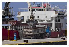 Cargo ship 'Skiathos' at Moudros harbour (AurelioZen) Tags: europe greece aegean limnos moudros harbour freighter crane lorry cargoshipskiathos