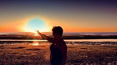 Liberte au feu astral !!! (Patevy Damant) Tags: aquitaine atlantique coucherdesoleil exterieur france medoc ocean olympus paysage plage soulacsurmer sunset