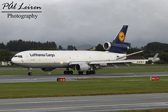 Lufthansa Cargo - D-ALCM - 2016.07.27 - ENZV/SVG (Pl Leiren) Tags: stavanger sola norway svg enzv flyplass airport planes plane planespotting aviation aircraft runway rw airplane canon7d 2016 airliner jet jetliner july july2016 mcdonnell douglas md11f md11 mcdonnelldouglas