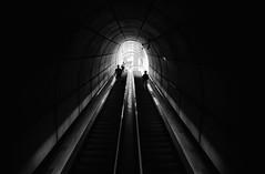 going underground (adrizufe) Tags: bilbao basquecountry metro metrobilbao underground fosteritos foster escalerasmecanicas blackwhite blanconegro bn bw updown nikonstunninggallery ngc aplusphoto nikon d7000 adrizufe adrianzubia