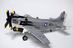 Douglas AD-6 Skyraider (1) (Dornbi) Tags: lego douglas ad6 a1h skyraider spad korea vietnam navy us
