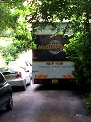 Blockage (My photos live here) Tags: lorry removal van truck road blocked no way through mcgilpin ryal tunbridge wells kent england i phone 5s