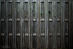 bamboofence (sethalanphoto) Tags: texture architecture wood fence bamboo garden wall