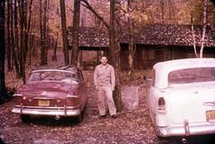 1950s a Chevrolet Convertible (rich701) Tags: vintage 35mm color 1950s langhorne pa pennsylvania carclub automobileclub 1954mercury bthriftyfoods texaco youcantrustyourcar