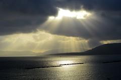 Sunbeams (kristinazeidlitz) Tags: sun sunbeam sunbeams clouds see ocean water blue gray