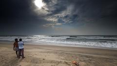 Storm Clouds? (rameshsar) Tags: alamparai marakannam surfing fuji xt1 clouds storm bluecolors sea beach nature landscapes india chennai