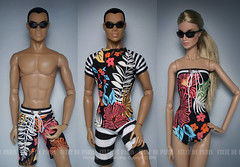 Tom Ford Floral Sets / Resort wear 2016 (Culte De Paris) Tags: fr fashion royalty nu face models color infusion fashionista it integrity toys culte de paris julia leroy jason wu haute couture handcrafted style floral tom ford beachwear resort swimsuit dress miniature ci tobias declan be daring imogen cinematic convention