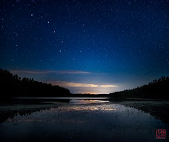Dipper Over Long Pond (Mitymous) Tags: jacobshill longexposure longpond night stars summer16 bigdipper