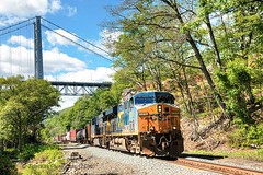 CSX manifest on River Line (Beyond Trains) Tags: csx csxriverline csxt csxtransportation train manifest railroad transportation transport ge es44dc 5313 generalelectric bearmountain fortmontgomery