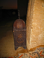 Into Darkness (Ellsasha) Tags: morocco lamps dark darkness ornamental lighting passages passageway browns shadow