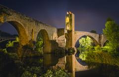 Besal (Miguel A. Garc) Tags: besalu girona gerona longexposure largaexposicion espaa spain bridge puente architecture arquitectura nikond600 tamron2470f28 color