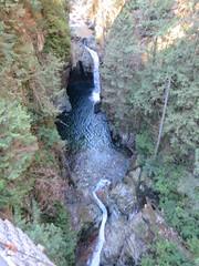 Lynn creek from the suspension bridge (D70) Tags: lynn creek from suspension bridge waterfalls pools canyon park