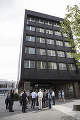 Advisory Services Panel: Frankfurt and Offenbach 3-8 May 2015 (Urban Land Institute (Europe)) Tags: advisoryservices blackbuilding building city concrete exterior germany guide multiplepeople multistory outside panel smiling street tour tree urban walking frankfurt offenbach