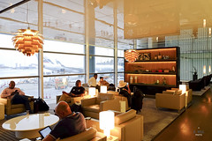 Lounge with shelf partition (A. Wee) Tags: cathaypacific  thebridge  lounge hongkong hkg    china
