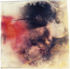 Landscape with Black Trail (batuda) Tags: pinhole obscura stenope lochkamera analog analogue can beer beercan paper matte color colour d76 sun solargraphy solargraph solarigraphy solarigrafia solar trail track negative unfixed explosion red black aniai kaunas lithuania landscape tree sky