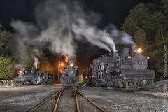 Cass Photography Workshop (Scriptunas Images) Tags: cassscenicrailroad train steam shay fall westvirginia night walterscriptunasii pocahontascounty