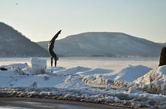The Golden Mean (caboose_rodeo) Tags: winter sculpture snow art hudsonriver peekskillny 2165 westchestercountyny ilikeice