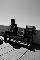 Music on the Bridge (udontknowmyname75) Tags: street bridge bw musician music canon eos blackwhite spain europe cordoba andalusia payer 70d tamron18270mm