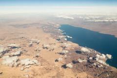 Gulf of Aqaba (Jesse4870) Tags: new city winter mountain plane river airplane israel sand rocks desert egypt aerial nile jordan cairo saudi arabia peninsula sinai 2014