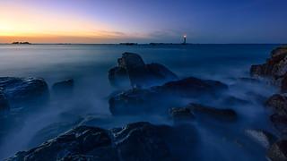 Nuit Bleue sur l'ile Vierge