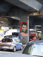 Ciao Bestia (stevenbrandist) Tags: travel red italy painting death mural memorial italia accident pillar genoa genova travelogue ciaobestia
