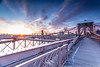 Sunrise at Brooklyn Bridge (Sodrul Bhuiyan) Tags: bridge color skyline brooklyn clouds sunrise canon dawn colorful cityscape manhattan ngc bridges brooklynbridge canonef1740mmf4l canon6d canoneos6d