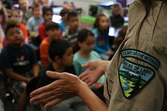 Smokey Bear Fire Prevention School Visit