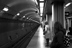 Commuters. (JH Photography (Bokeh Boyz)) Tags: pictures street city summer people urban blackandwhite bw chicago color beautiful contrast 35mm subway 50mm photo spring amazing nikon exposure downtown time photos pics unique abril streetphotography like chitown style trains pic oldschool best follow retro iso talent chi shutter april network dslr friday build freetime nocrop beginner starting 2015 retrostyle mytime d3200 nikonphotography