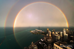 (7.13.16)-360_Rainbow_Storm-WEB-6 (ChiPhotoGuy) Tags: chicago storm weather skyline lightning rainbow cityscape epic clouds cloudporn 360chicago johnhancock hancock observationdeck rooftop stormy wx skyporn
