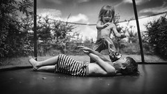 The stomp. No children were hurt or dignity was lost in the making of this photo. (markfly1) Tags: summer kids garden fun happy nikon time memories trampoline d750 24mm having