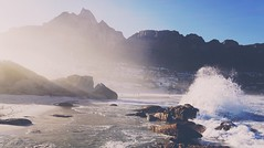 Waves (FlavioSarescia) Tags: nature landscape africa sunrise sun sunshine sunlight light sunrays travel beach sea ocean mountain rocks rock sand water flare rays ray hss capetown southafrica walk wander wanderlust sony sonyalpha
